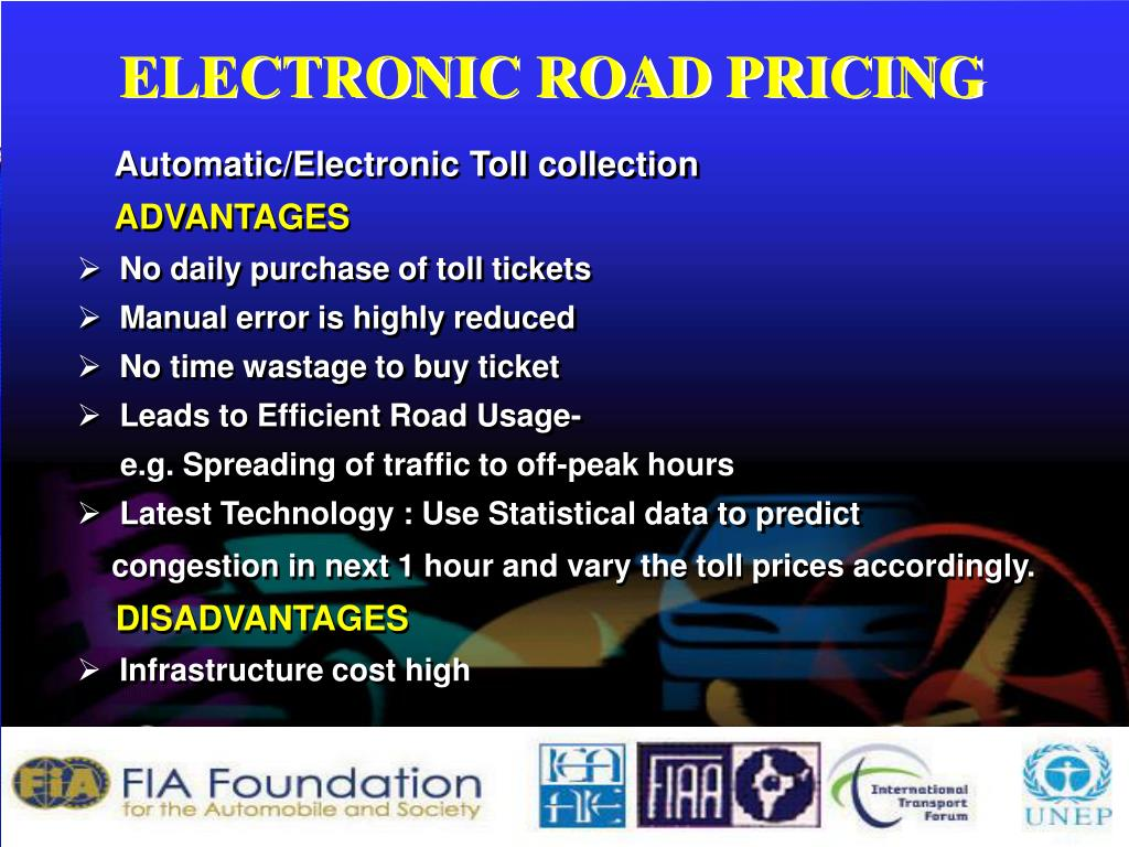 ELECTRONIC ROAD PRICING