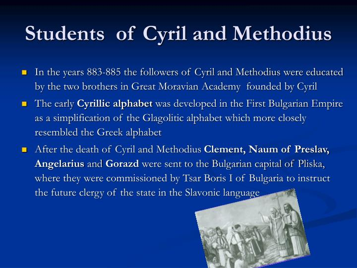 Students  of Cyril and Methodius