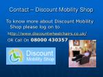 contact discount mobility shop