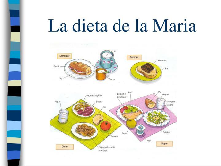 La dieta de la Maria