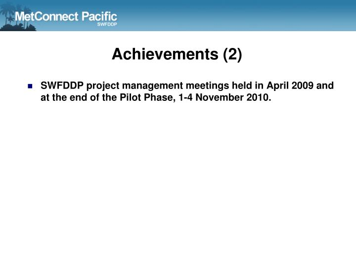 Achievements (2)