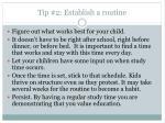 tip 2 establish a routine