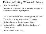 factors affecting wholesale prices18