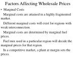 factors affecting wholesale prices19