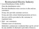 restructured electric industry10
