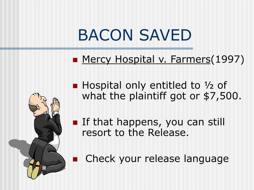 BACON SAVED