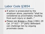 labor code 3854