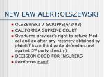 new law alert olszewski