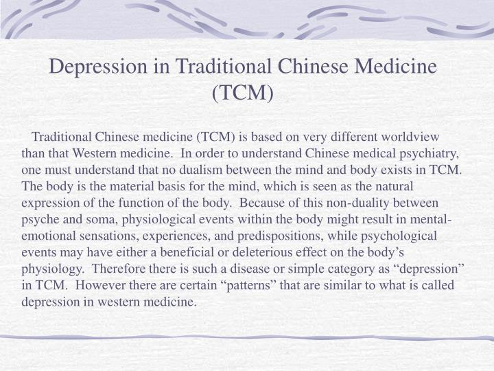 Depression in Traditional Chinese Medicine (TCM)