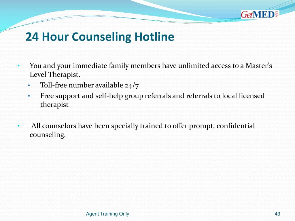 24 Hour Counseling Hotline