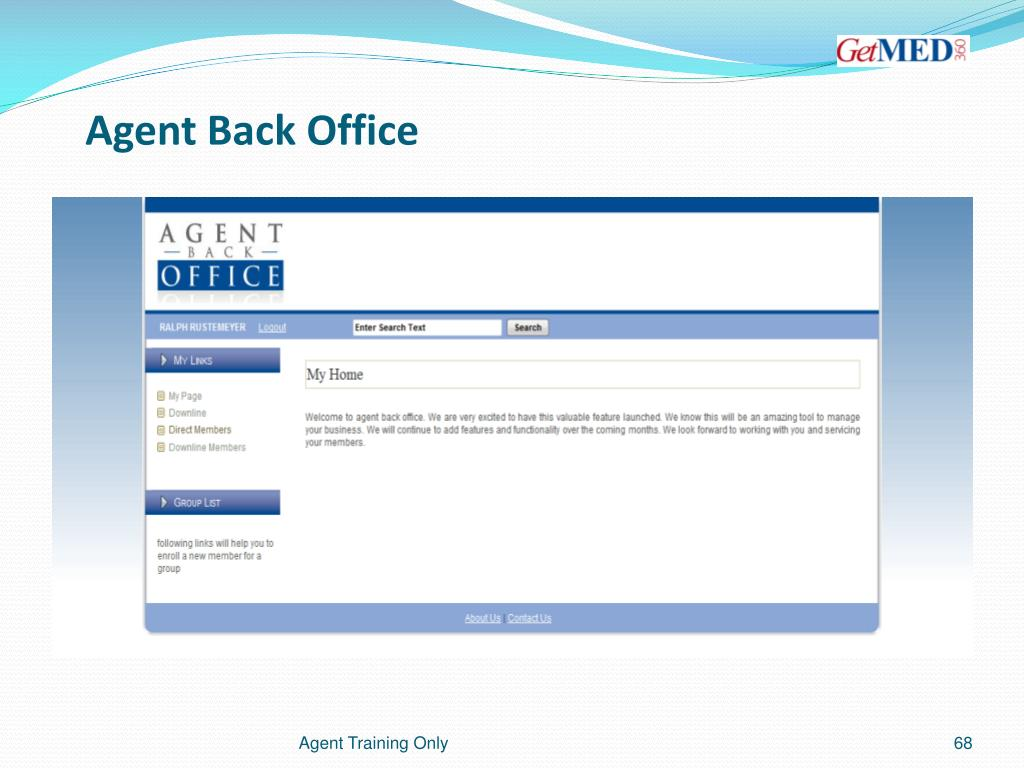 Agent Back Office