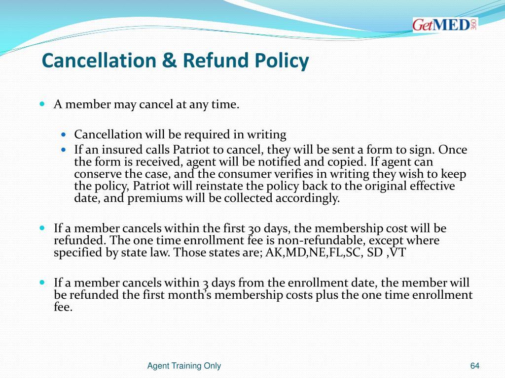 Cancellation & Refund Policy