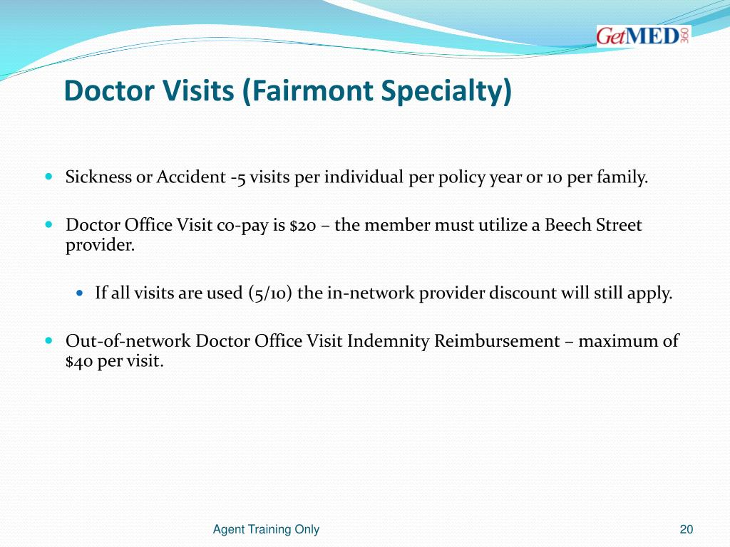 Doctor Visits (Fairmont Specialty)