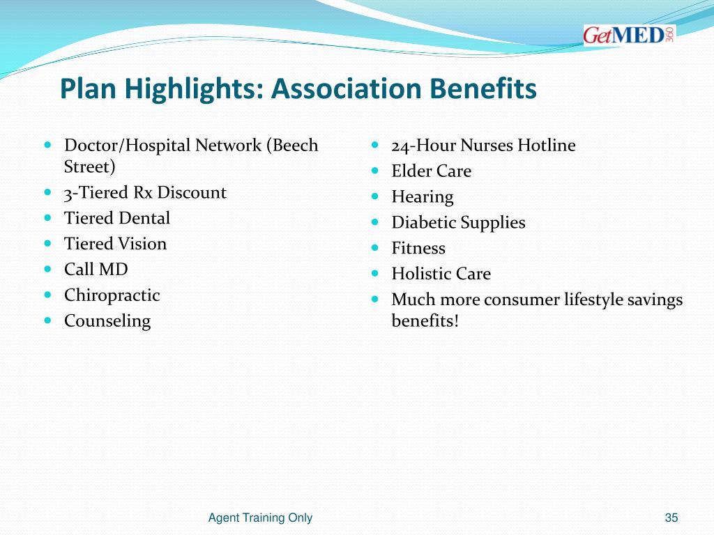 Plan Highlights: Association Benefits