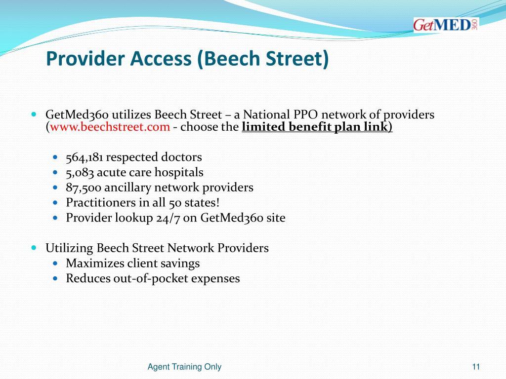 Provider Access (Beech Street)
