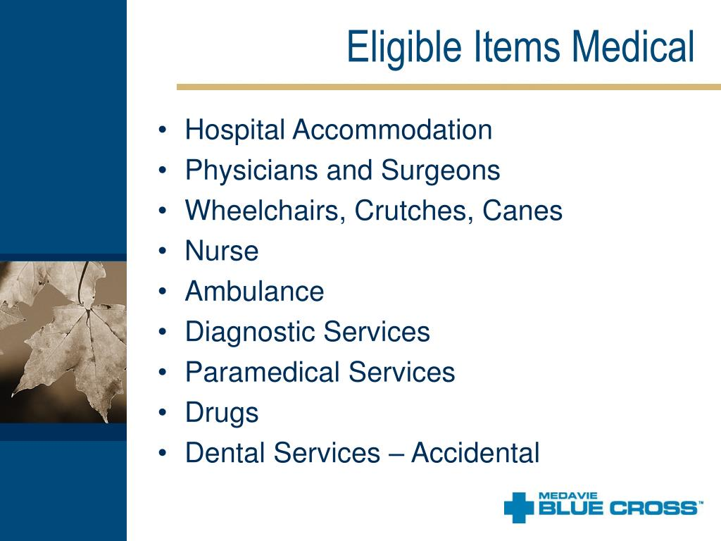 Eligible Items Medical