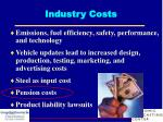 industry costs