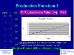 production function i