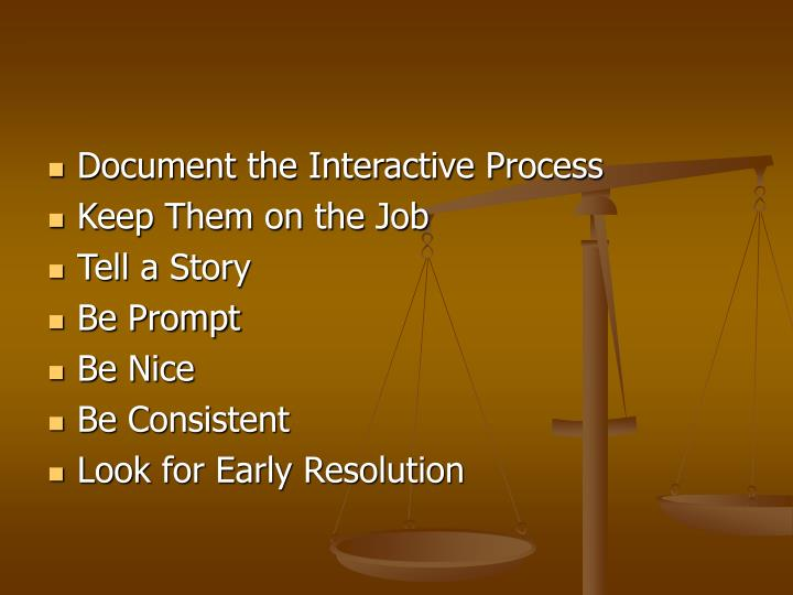 Document the Interactive Process