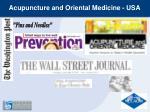 acupuncture and oriental medicine usa