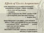 effects of electro acupuncture