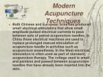 modern acupuncture techniques