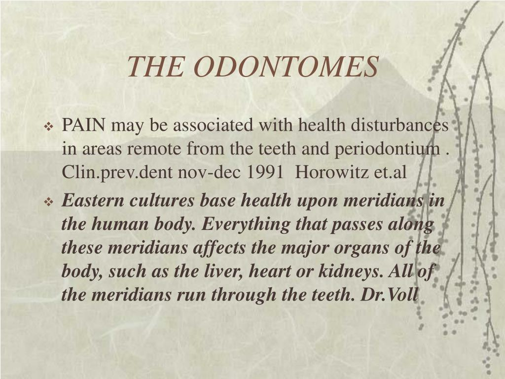 THE ODONTOMES