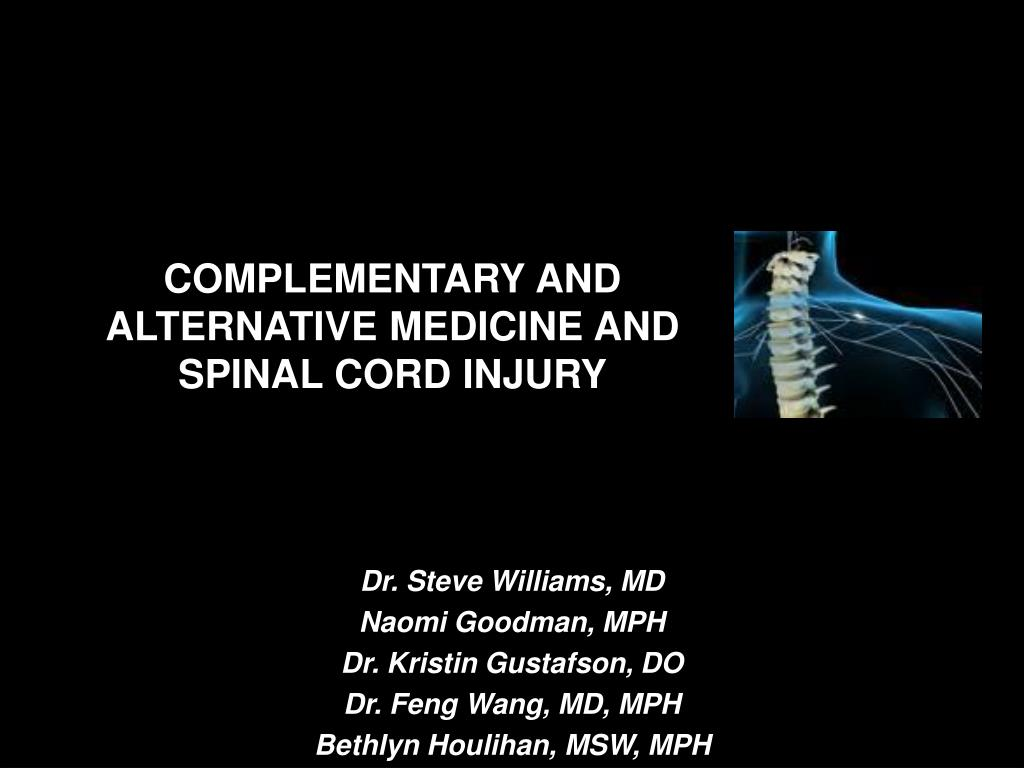 complementary and alternative medicine and spinal cord injury l.