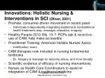 innovations holistic nursing interventions in sci oliver 2001