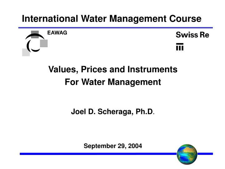 International water management course