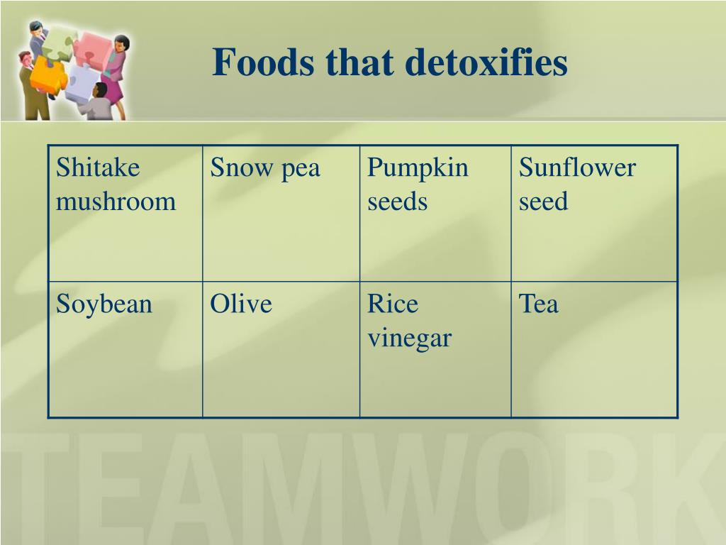 Foods that detoxifies