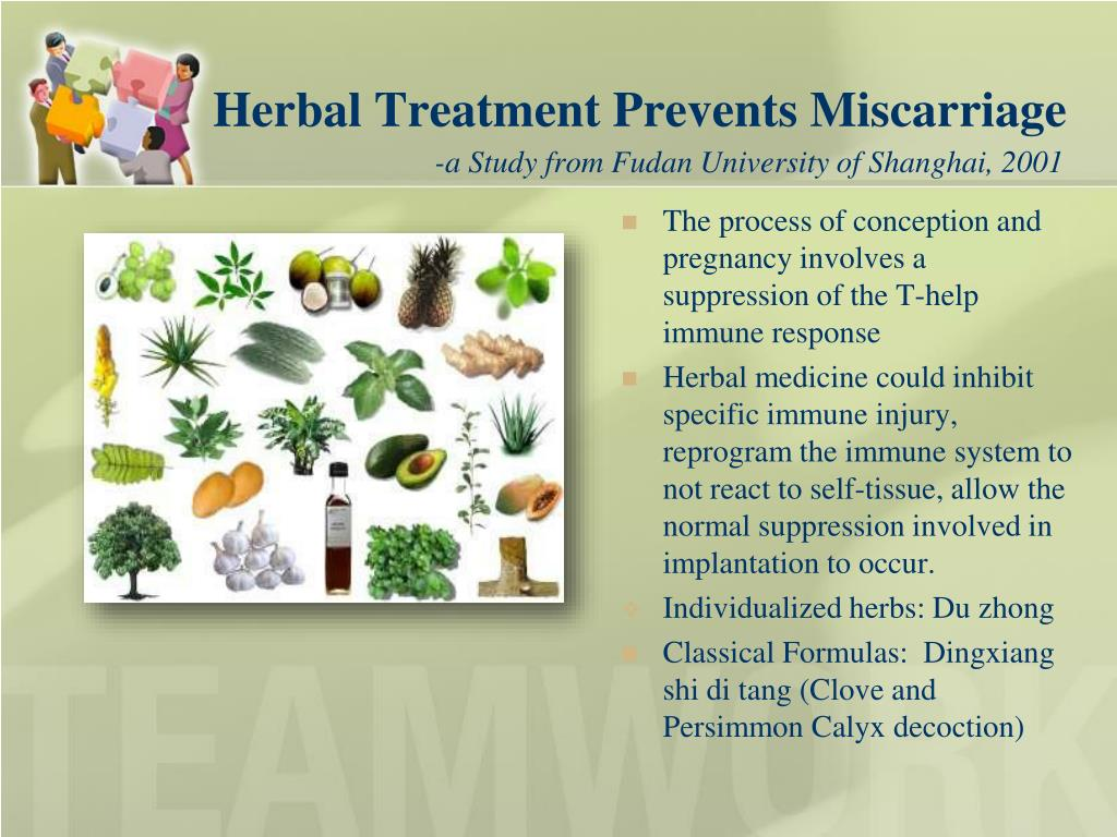 Herbal Treatment Prevents Miscarriage