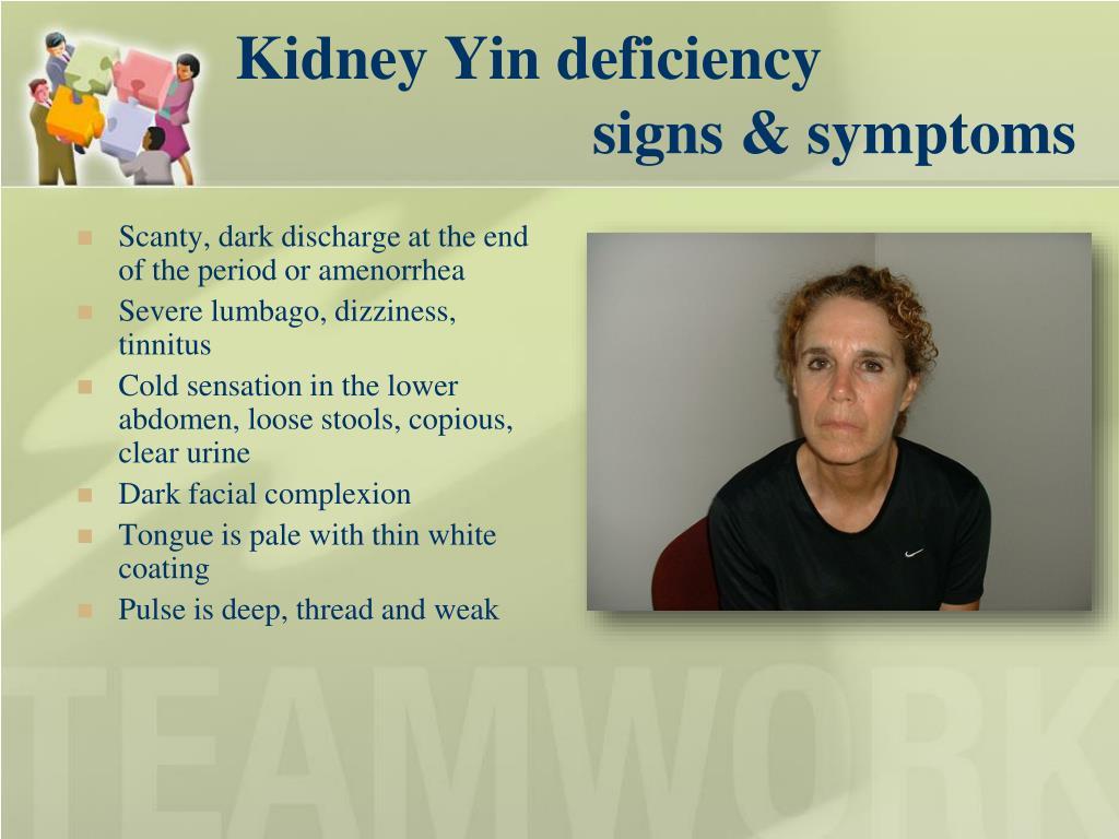 Kidney Yin deficiency