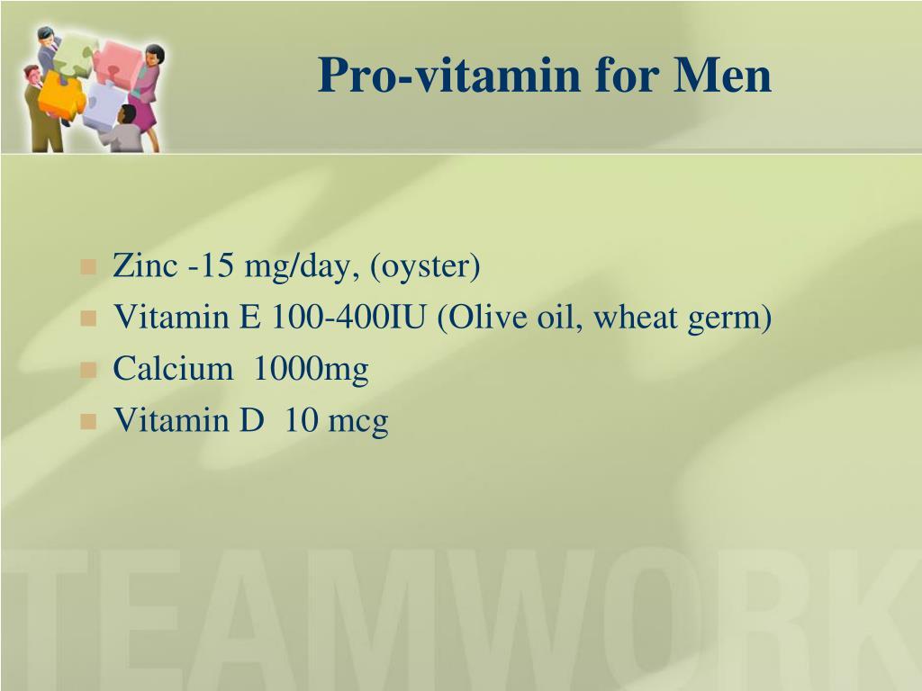Pro-vitamin for Men