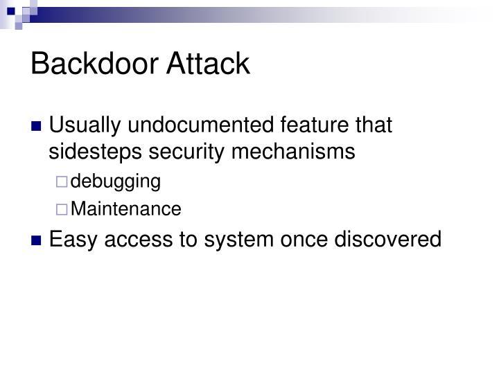 Backdoor Attack