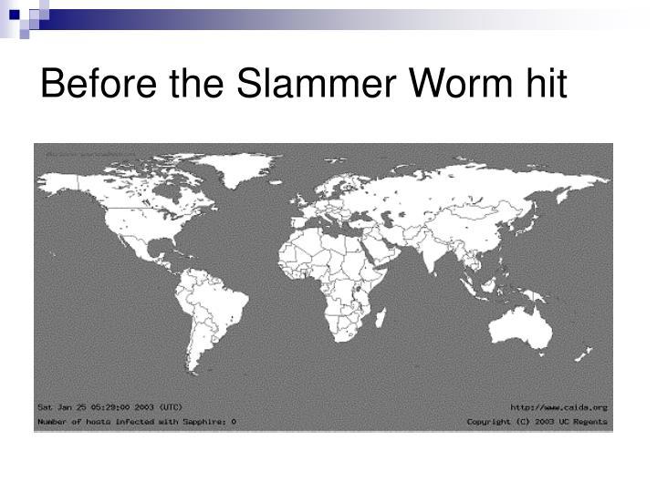 Before the Slammer Worm hit