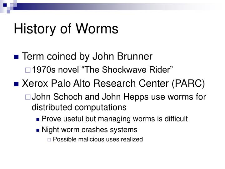 History of Worms