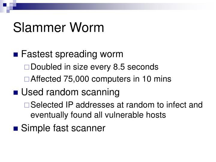 Slammer Worm