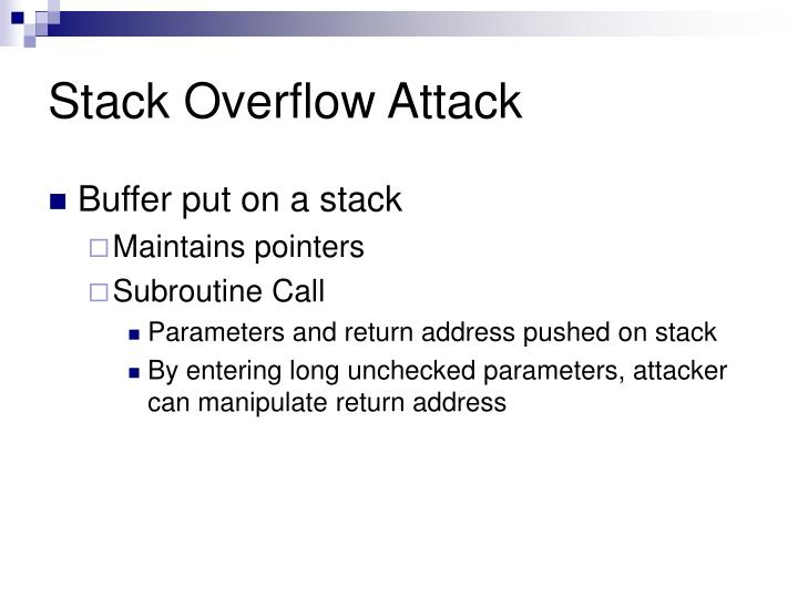 Stack Overflow Attack