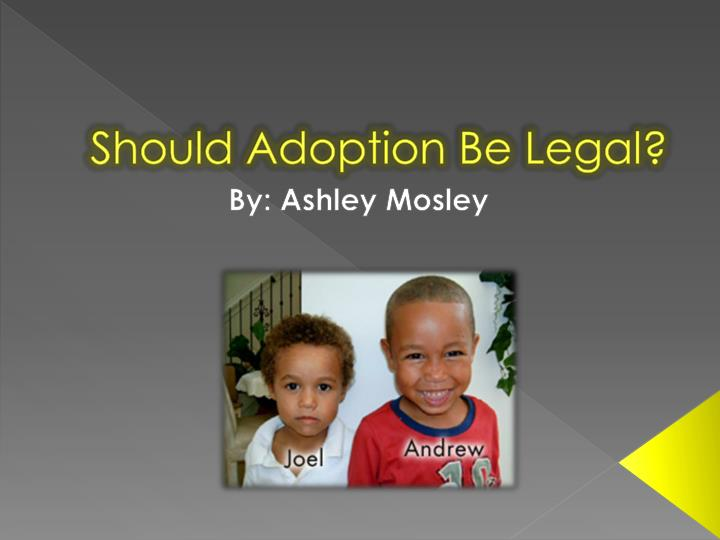 adoption by gay couples should be legal Rather, it should be possible for a gay couple to adopt an unrelated child, or a child born through art to a surrogate or friend, after the birth mother has made a positive decision to transfer her legal parenting rights.