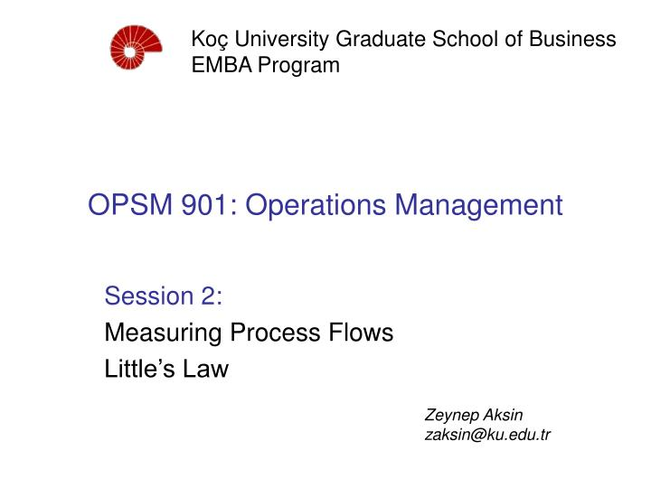 opsm 901 operations management