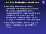 acs in diabetics methods