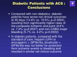 diabetic patients with acs conclusions