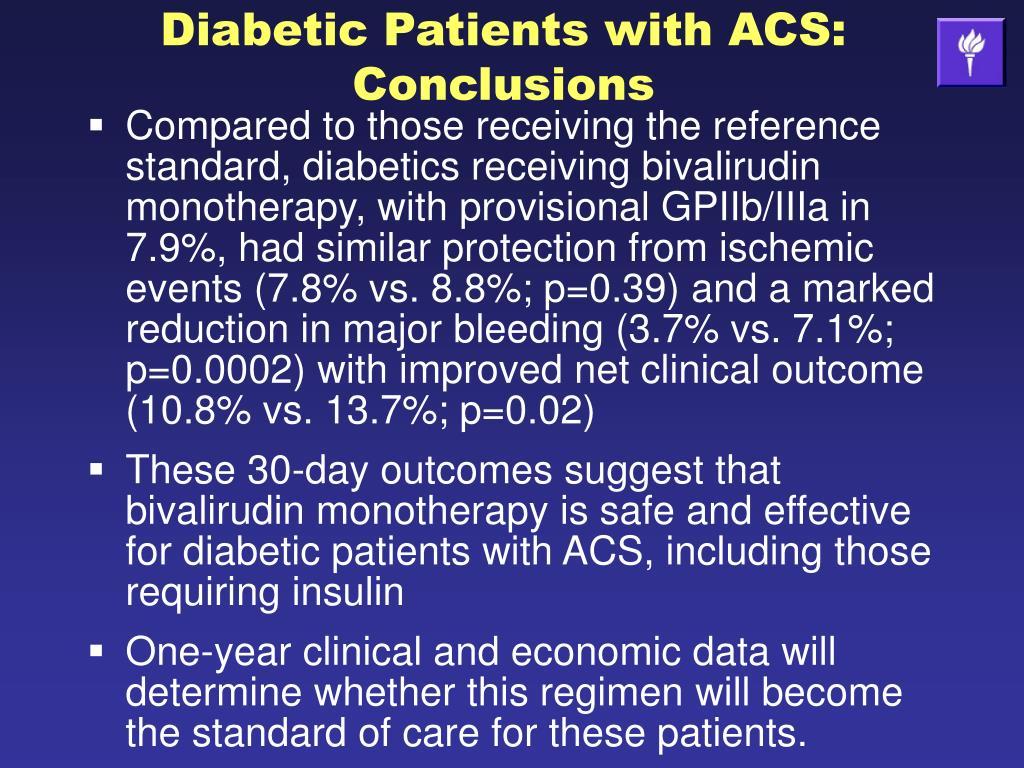 Diabetic Patients with ACS: Conclusions