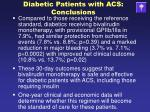 diabetic patients with acs conclusions19