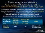power analysis and statistics