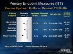 primary endpoint measures itt