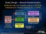 study design second randomization