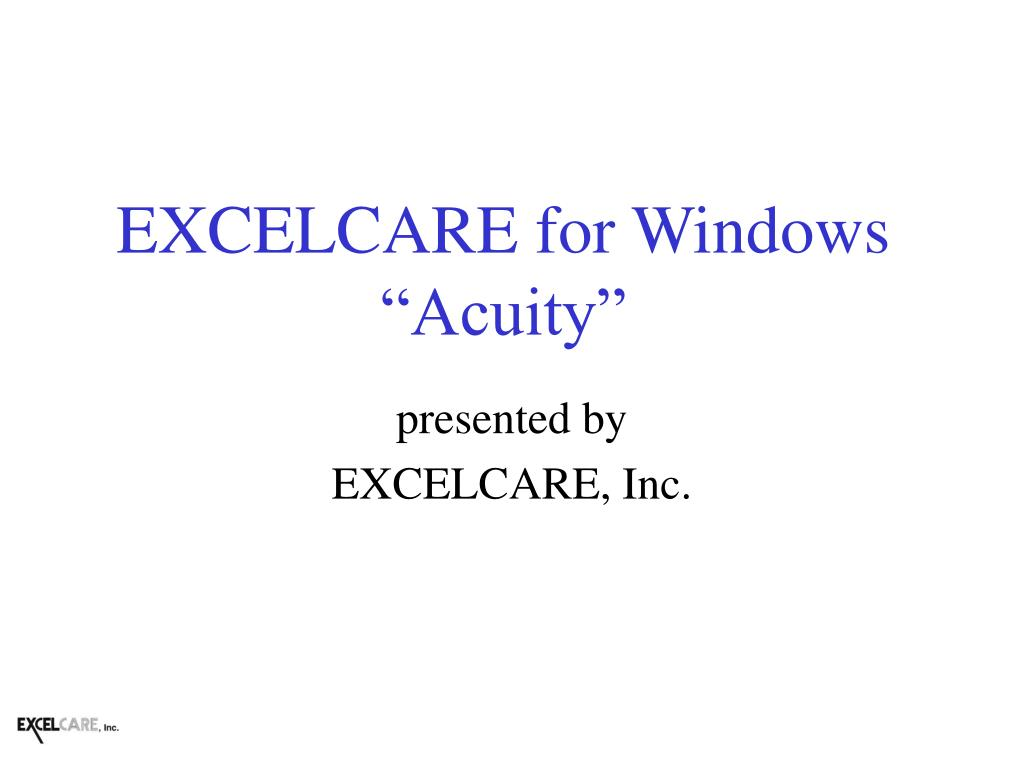 excelcare for windows acuity l.