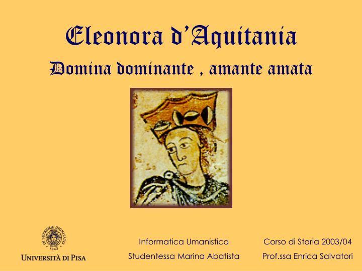 eleonora d aquitania n.